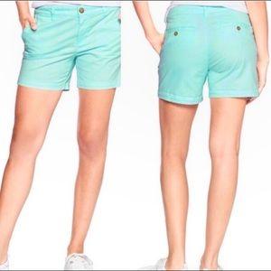"NWT GAP Girlfriend Shorts Mint Green 6"" Inseam"